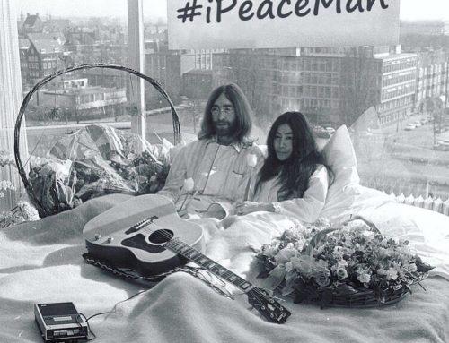 #ipeaceman: в международный день Мира повторят акцию Джона Леннона и Йоко Оно «В постели за мир»